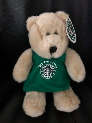 STARBUCKS 2001 Bearista Bear Plush 30th Anniversary  New with Tags