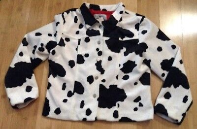 Vtg 90s Cow Print Jacket Girls Vtg Sz Large L Jonathan Martin Cowgirl Rodeo