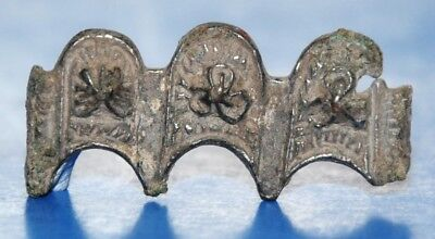 Scandinavian Silvered Ornament, Viking Armor Artifact 800-1000 AD