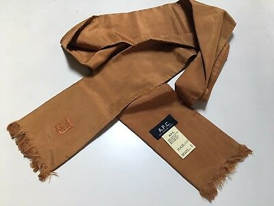 A.P.C. APC Silk/Cotton Orange Scarf Preppy Ivy Leauge Paris, France
