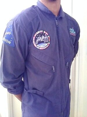 Authentic Used Dark blue Nasa flight suit with mission to Mars Orion & Iss patch
