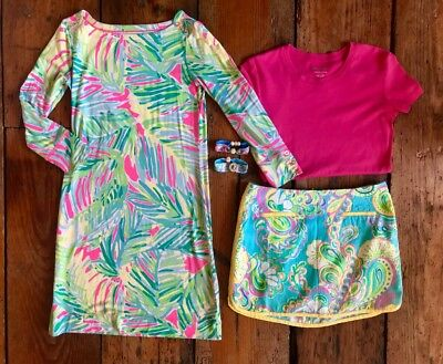 Lilly Pulitzer LOT DRESS SKORT SHIRT  Bracelets Size XS XXS 00