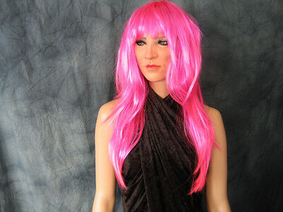 Latexmaske RAVER LADY +LASHES +WIG - Weibliches Drag Latex Gesicht Frauenmaske