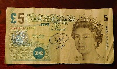 5 Pound Bank Of England Note £5