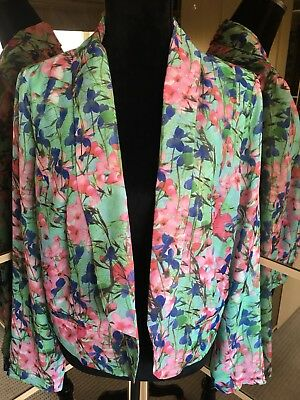 Atmosphere Ladies Gorgeous Floral Lined Jacket Size 14
