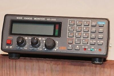 Aor Ar2500 Scanner/monitor With Power Supply And Antenna