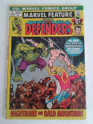 Marvel Feature #2  The Defenders 2Nd Appearance High Grade Comic Vf/nm