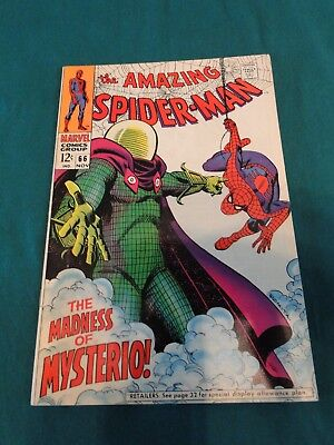 Marvel Comics Amazing Spider-Man #66 Madness Of Mysterio! High Grade Copy!! Nice