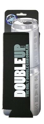 Can Insulator Neoprene DoubleUp Holds 2 Cans Black Free Shipping