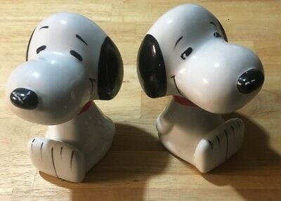 Vintage Schultz Snoopy Bookends Classic 1966 Peanuts United Feature Syndicate