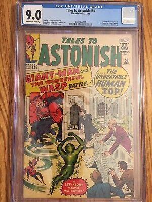 Tales to Astonish #50 (Dec 1963, Marvel)CGC 9.0 Giant-man and wasp off white