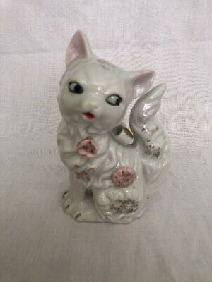 Gorgeous Vintage Cat Salt Or Pepper Shaker Retro Kitch