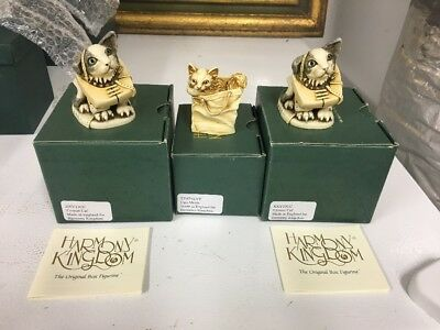 3 Harmony Kingdom Figurines XXYTJCC Crooze Cat X 2 & Cats Meow MIOB