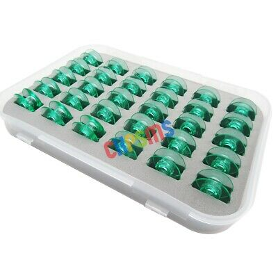 Box of 30PCS #4125615-45 Clear GREEN Bobbins fit for Viking Husqvarna White Home
