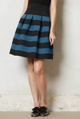 Anthropologie Girls From Savoy Ponte Bell Striped Skirt Size Medium/Large