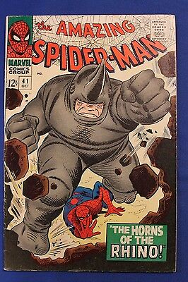 THE AMAZING SPIDER-MAN #41  1966 unread -RHINO  APPEARANCE  Marvel comic