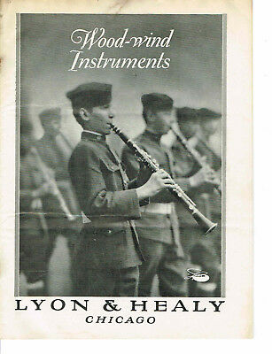 Vintage - Chicago, IL - Lyon & Healy Wood-Wind Instruments Catalogue