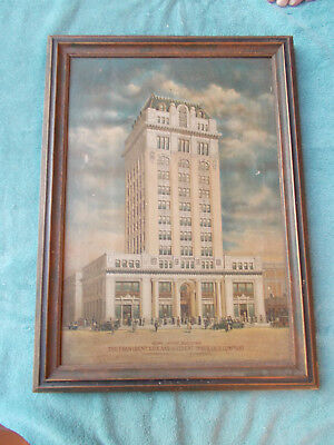 VERY SCARCE—Faux Oilette on Canvas the Provident Life & Accident Insurance Co. S