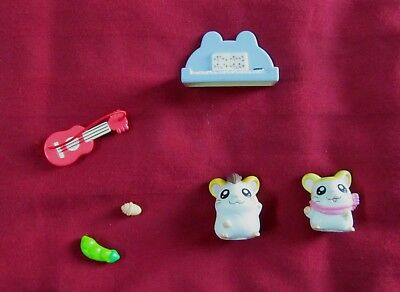 Vintage Ham Ham Pashmina Jingle Music Toy Play Set Hamtaro 2002 Anime