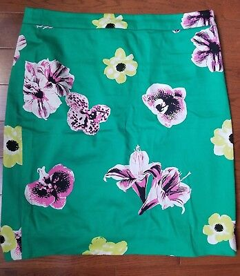 J. Crew jcrew punk floral green skirt size 12