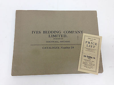 Antique 1929 IVES BEDDING COMPANY Ltd & Price List In Excellent Condition