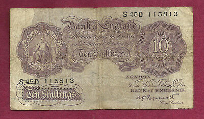 GREAT BRITAIN 10 Shillings 1940-48 (ND) Banknote 115813 - BANK OF ENGLAND - WWII