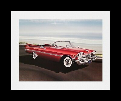 Art Print Poster - Dodge Custom Royal Lancer: 1959 1958 1957 1956 1955 D-500 383
