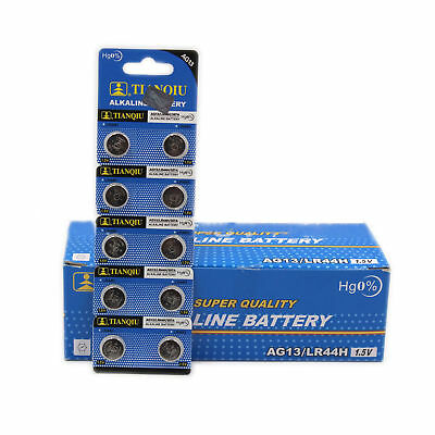 Hot 10PCS AG13 LR44 SR44 L1154 357 A76 Button Coin Cell Pack Alkaline Batteries