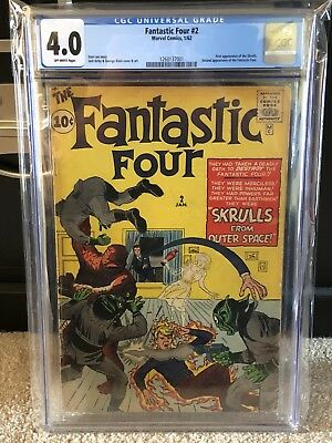 Marvel Fantastic Four #2 CGC 4.0!  2nd FF And 1st Skrulls! See Other Listings!