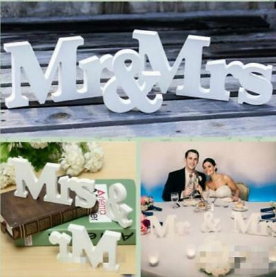 Mr and Mrs Wedding Reception Engagement Party Sign Letters Table Top Decor FW