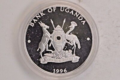 1996 Uganda Chinese Mascot Birds 2000 Shillings Silver Coin .99c NO RESERVE