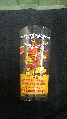 Burger King (C) 1978 Marvelous Magical RARE Burger Glass