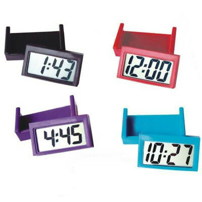 Screen Calendar Dashboard Digital Time Lcd Clock Date Auto Mini Car Alarm Desk