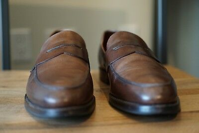 NR! ALLEN EDMONDS x Brooks Brothers Penny Loafers 0262S 9.5 D Brown