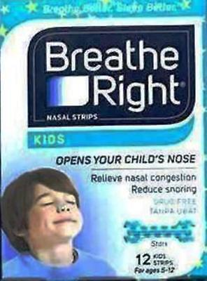 3 X Breathe Right Nasal Strips For Kids Free Ship To Usa