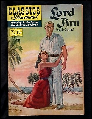 Classics Illustrated #136 Vg (O)  Hrn135 (Lord Jim) Free Shipping On $15+ Orders