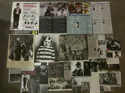 CHARLES CHAPLIN - Over 20 clippings - Charlie