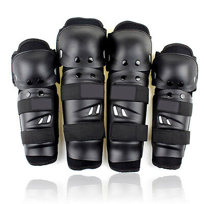 4Pcs Kit Adult Elbow Knee Shin Armor Guard Pads Protector for Motorcycle Bike