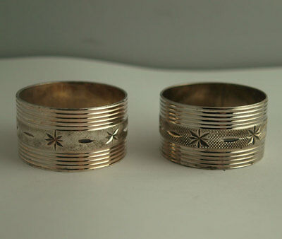 Elegant Pair Of Silver Plated Napkin RIngs