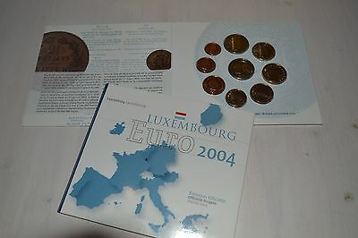 Luxemburg KMS 2004 ST 1 Cent - 2 Euro + 2 Euro GM im Folder