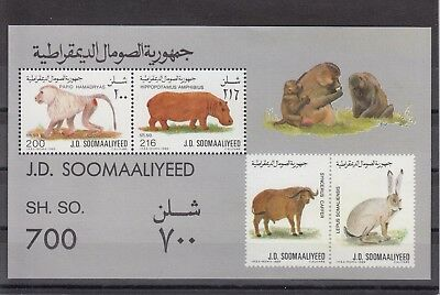 Timbre Stamp Bloc Somalie Y&t#24 Animal Faune Neuf**/mnh-Mint 1989 ~A68