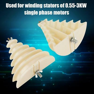 Beige Electrical Machine Plastic Single Phase 6 Layers Coil Wire Winding Mold