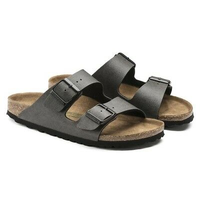 BIRKENSTOCK Arizona Pull Up Anthracite VEG Vegan Herren Damen Sandalen Schuhe