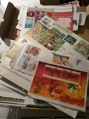 Stamps kiloware Estate boxes of stamps on paper variety predecimal/Decimal
