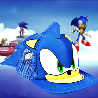 3ebbacd80ee Sonic the Hedgehog Beanie Cosplay Costumes Peaked Kid Cap Hat Fancy Dress  Gift