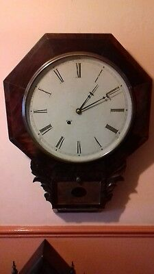 Antique  8 Day  american Wall clock