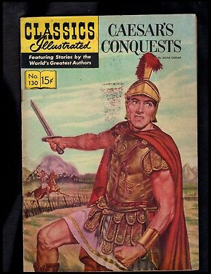 Classics Illustrated #130 G  Hrn142  (Caesar's Conquests) Free Shipping On $15+