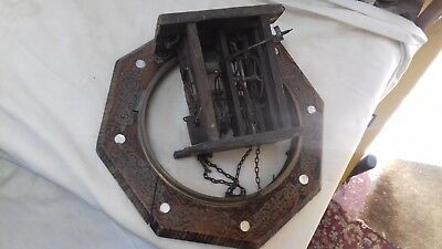Antique,Black forest .'postman alarm' parts