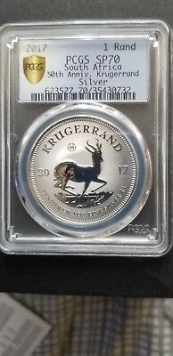 2017 Silver 70 PCGS 50 th Anniversary Krugerrand Special limited mintage rare