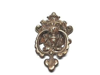 Brass Door Knocker Vintage Solid Antique Heavy Lion Large Head  Knockers Front